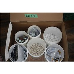 Box w/Hand Rail Brackets, Tile Spacers, Grid Clamps, Curtain Hanger Parts & Carriage Bolts