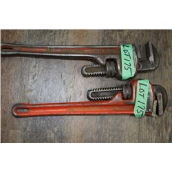 """2 - 14"""" Rigid Pipe Wrenches"""