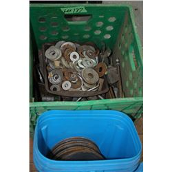 Green Crate w/Various Sizes of Washers