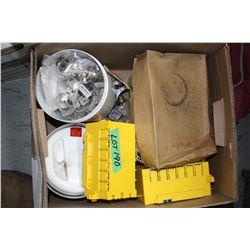 Box w/Electrical; Cabinet & Door Hinges; Door Stops