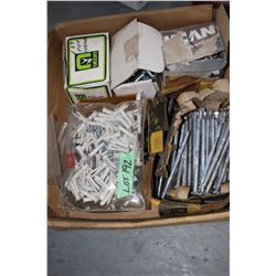 Box w/Lag Bolts; Drywall Hanger Plugs & Concrete Fasteners