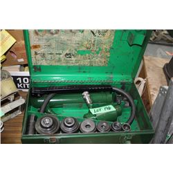 """Greenlee Hydraulic Knockout Set - 1/2"""" to 2"""" with Pump & Ram"""