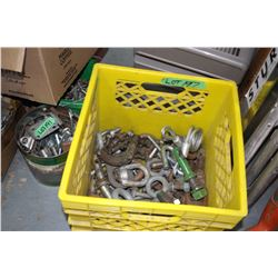 Yellow Crate w/Pins' Eye Bolts; Bolts and More