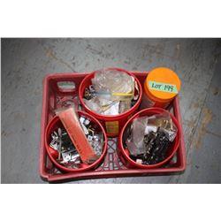 Coca Cola Shell w/Misc. - Screws, Drawer Pulls, Door Strikers, etc.