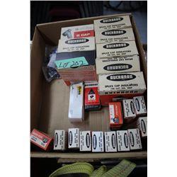 Box of Buchanan Sleeves; Cap Insulators; Wire Nuts & Stack-on Lugs
