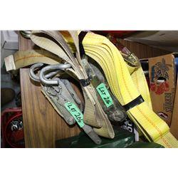 3 Tie Down Straps & Winches