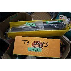 Yellow Storage Container of Zip Ties