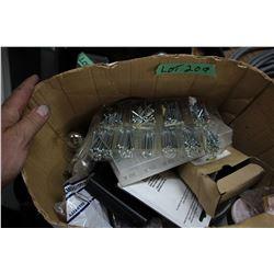 Box of Cotter Pins; Radar Detector; Fuses & Car Light Bulbs