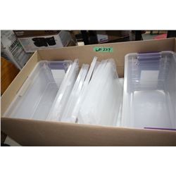 Box of 9 - 14 1/2 x 7 x 4 Storage Containers & Lids