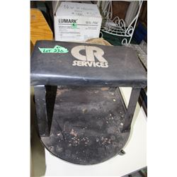 Rolling Seat with Tool Tray
