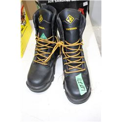 Pr. Of Steel Toe Work Boots - Size 10 (New)