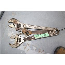 3 Crescent Wrenches