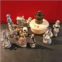 Coal Oil Aladdin Lamp & Small Ornaments