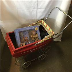 Vintage Doll Pram w/Anne Geddes Baby Bears