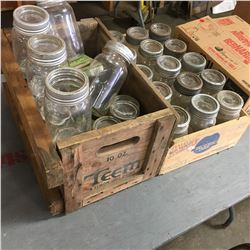 Variety of Canning Jars etc