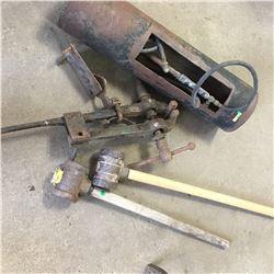 Leg Vise, 2 Post Mauls & Branding Iron Oven