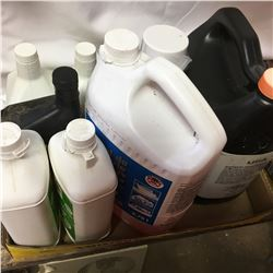 Tray Lot: Foam Insulation, ATF, WD40, Plumbing Antifreeze, etc