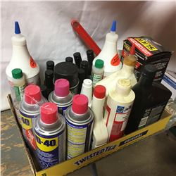 Tray Lot Fluids: WD40, Lucas Oil, Slick 50, etc