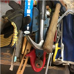 Tray Lot: Hammers, Impact Driver, Wrench Set, etc