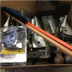 Box Lot: Trailer Tongues & Lighting Plugs & Hitch Balls