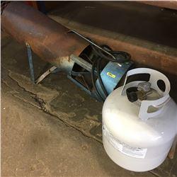 Construction Heater & Propane Tank