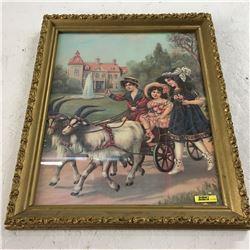 Picture/Artwork : Children in Buggy (Framed)