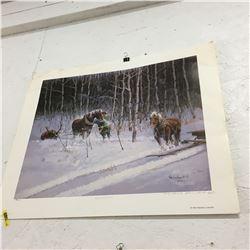 Picture/Artwork : Horses & Hunter (Not Framed)