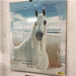 Picture/Artwork : White Horse (Not Framed)