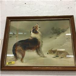 Picture/Artwork : Dog & Lamb (Framed)
