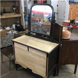Antique Dresser w/Mirror (Restoration has begun)