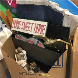 Home Sweet Home in a Box ! Mail Box, Door Knocker, Willow Tree Ornaments, etc