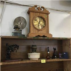 Aladdin Lamp Base, Wall Mount Lamp w/Reflector, Mantle Clock, Figurines, Avon