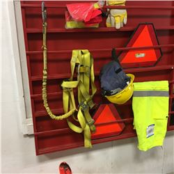 Safety Gear (Harness, Hard Hat, Triangles, Cones, Gloves, Harness, etc)