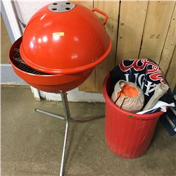 Backyard BBQ Combo : BBQ, Utensils, Tent, Bin