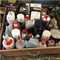 Various Shop Supplies (Engine Degreaser, Camp Fuel, Injector Cleaner, Starting Fluid, etc)