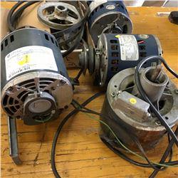 Electric Motors (4) & Pulleys