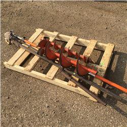 Pallet Lot: Tree Trimmer, Post Hold Digger & 2 Auger Bits