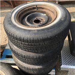 Half Pallet Lot: Set of 4 Tires & Rims (Radial H715  P215/75R15)