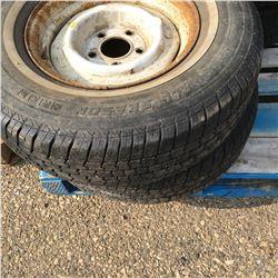Half Pallet Lot: P235/75R15 Pair Tires & Rims