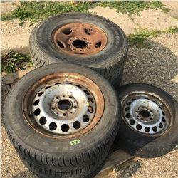 """Pallet Lot: 15"""" Tires & 16"""" Tires w/Rims"""