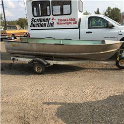 14' Peterborough Aluminum Boat w/Trailer (NO SERIAL NUMBER)