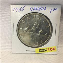Canada Silver Dollar 1955