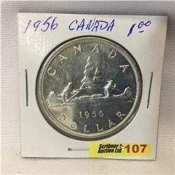 Canada Silver Dollar 1956