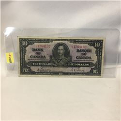 Canada $10 Bill 1937 : LD1764102