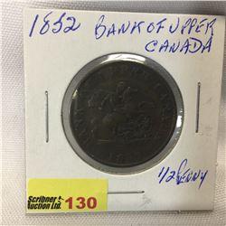 Bank of Upper Canada Half Penny 1852