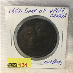 Bank of Upper Canada One Penny 1852
