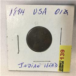 USA One Cent 1874