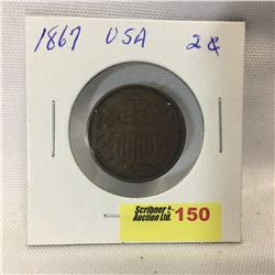 USA Two Cent 1867