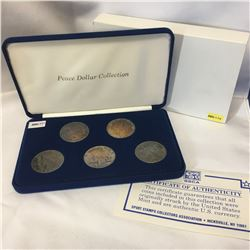 USA Peace Dollar Collection (1922; 1923; 1923; 1924; 1925) COA