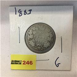 Canada Twenty Five Cent 1883